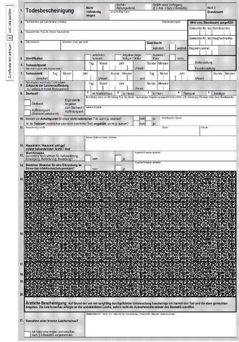 Muster Rechnung Leichenschau Der Totenschein Informationen Zu Inhalt Und Kosten