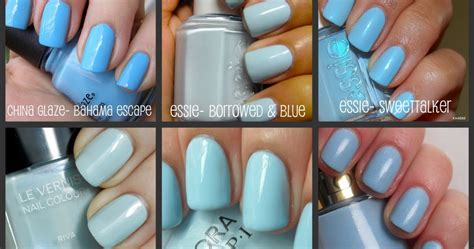 essie light blue nail favorites light blue nail the big brown