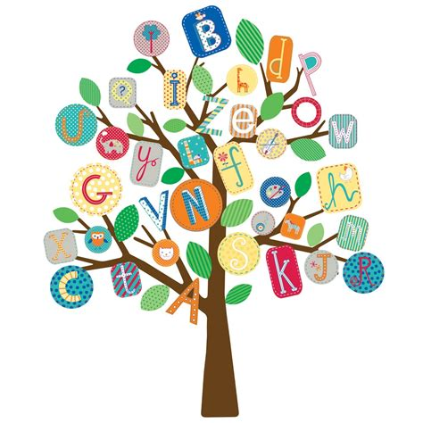 alphabet wall sticker primary abc tree wall stickers stickers for wall
