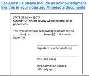 state of minnesota apostille apostille service