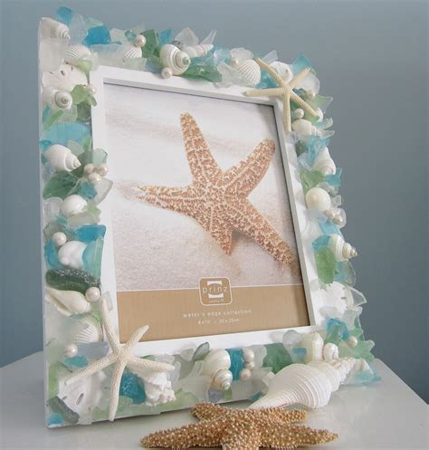 Seashore Decorations by Shell Frame Decor Nautical Seashell Frame W Pastel