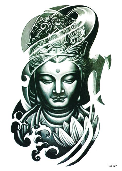 2 awesome tribal buddha tattoo designs