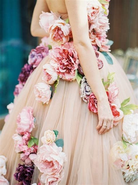 Wst 14394 Blue Flower Dress floral wedding dress inspiration 100 layer cake