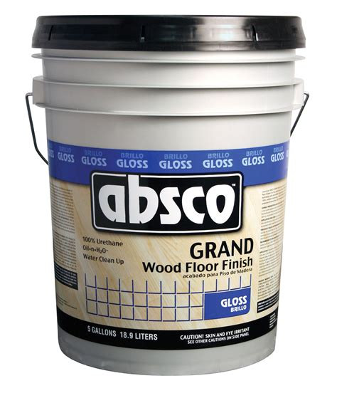 gallon container  absco grand gloss wood floor finish oil