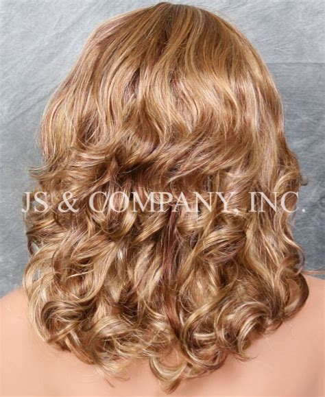 Wig Botton Curly medium length curly at the bottom synthetic synthetic wig