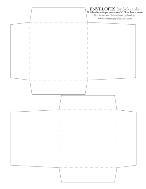envelope template mel stz new 3x3 envelope liner templates