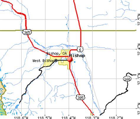 bishop california map bishop ca map
