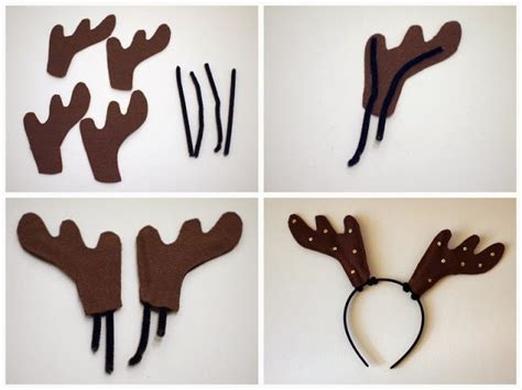 how to make reindeer antlers diy reindeer antler headbands pink stripey socks