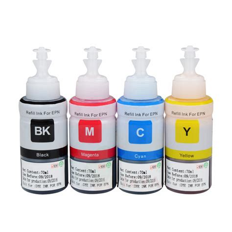Coral Refill Botol 70 Ml For Epson L M Series Cyan Promo dye based non oem refill ink kit for epson l100 l110 l120