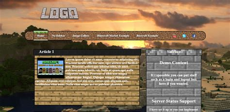 php forum templates free free minecraft website template shops shops and