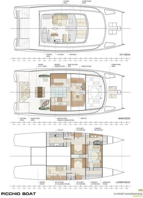 catamaran floor plans 17 best images about boats layouts on pinterest