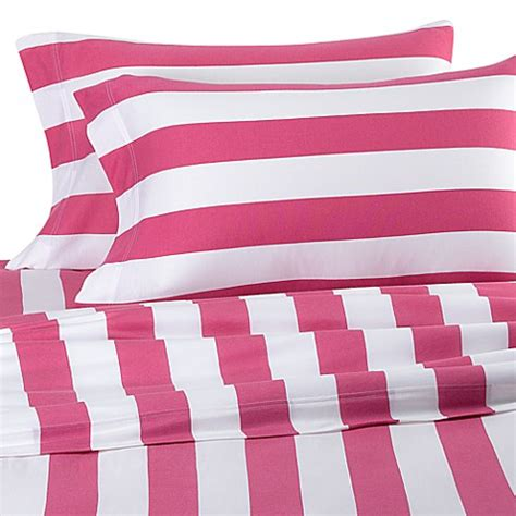 bed bath and beyond jersey sheets pure beech 174 rugby stripe jersey knit king sheet set bed