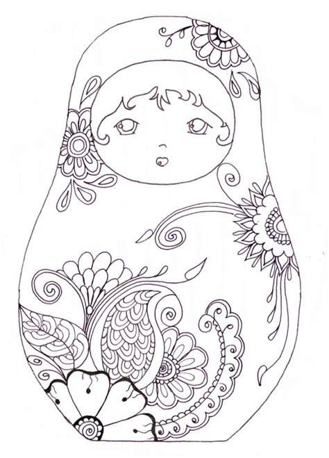 libro matriochka desenhos para colorir colorindo para desestressar