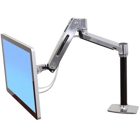 Sit Stand Desk Monitor Arm Ergotron 45 384 026 Sit Stand Desk Mount