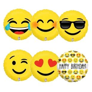 Diskon Balon Foil Emoji Emoticon New 18 quot emoji foil balloon vredebest packaging