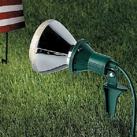 outdoor set of 2 spotlight flood light holders lawn