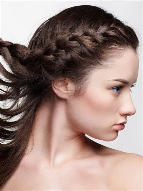 side bang braid hairstyles pictures hairstyles for growing out bangs side braid