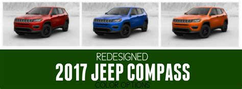 jeep 2017 colors redesigned 2017 jeep compass color options