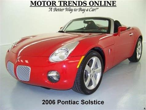 pontiac solstice seats sell used convertible leather seats chrome alloys am fm cd