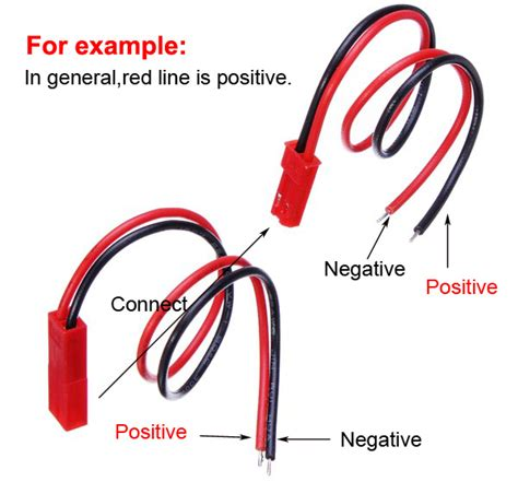 2 pairs 15cm jst connector with connect cable for rc