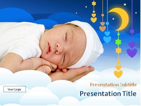 Download Sleeping Newborn Powerpoint Template Free Baby Powerpoint Templates