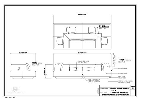 sofa sectional drawing liška design professional work furniture design