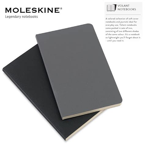 moleskine volant moleskine volant notebooks set of 2 ruled plain note