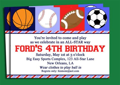 Sports Themed Cake Decorations - blank free printable birthday invitations for boys drevio invitations design