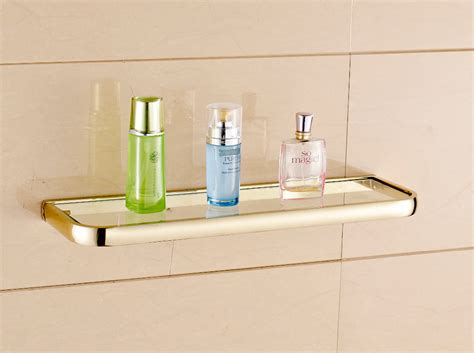 bathroom shower holder aliexpress com buy modern fashion golden bathroom glass