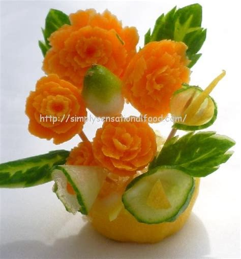 vegetables n fruits simply food carnation table decoration create n carve