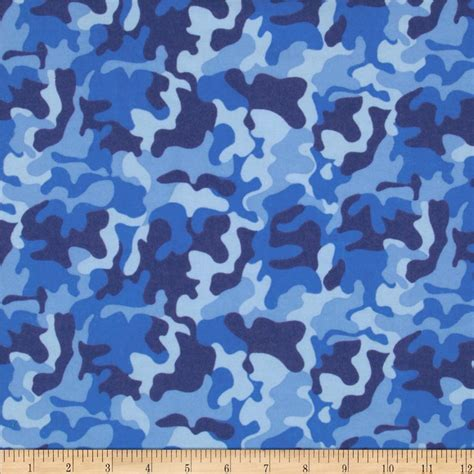 Home Decor Sewing Patterns by Flannel Camo Blue Discount Designer Fabric Fabric Com