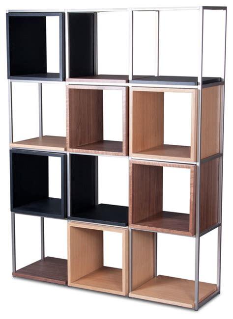modern shelving units grid v black oak and walnut shelving unit modern display and wall shelves other metro