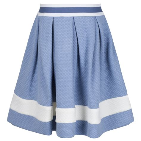 monnalisa light blue and skirt with zip