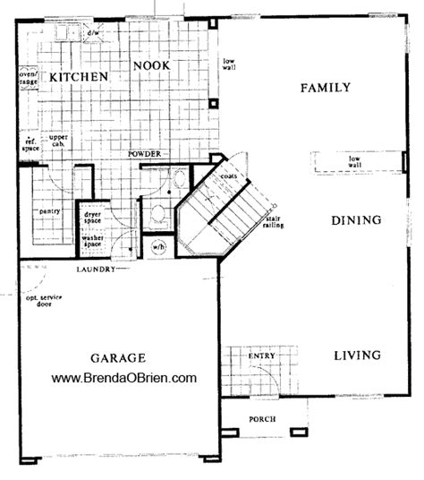 floor plan stairs black horse ranch floor plan kb home model 2760 down stairs