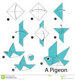 Steps To Make Origami Animals - step by step how to make origami a bird