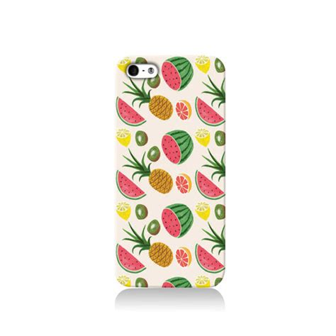 Iphone 4 4s Tropical Fruits Pattern Cover Casing Hardcase tropical fruits iphone iphone 6 iphone 4 iphone 4s iphone 5 5s