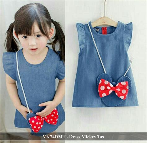 Dress Anak Perempuan Denim by Vk74dmt Dress Mickey Tas 74 000 Reseller 59 000 Mat
