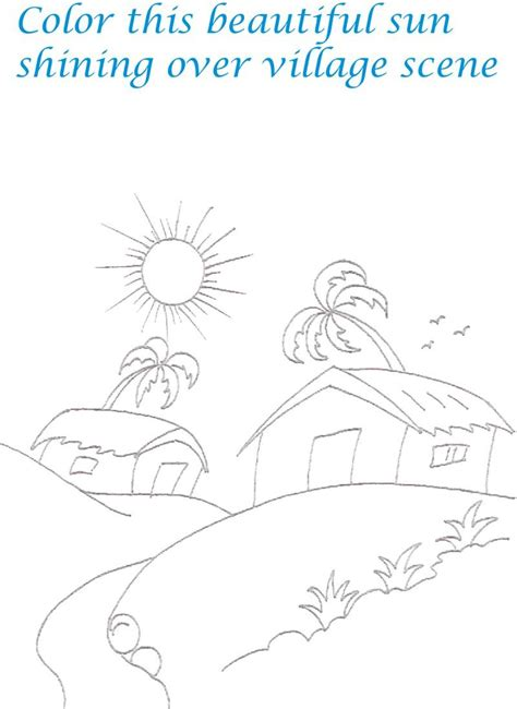 Scenery Spring Pictures Scenery Pictures To Print Printable Scenery Coloring Pages
