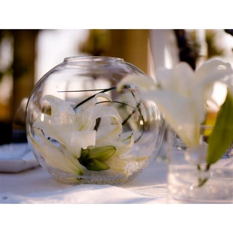 vase boule aquarium 30cm centre de table creative emotions