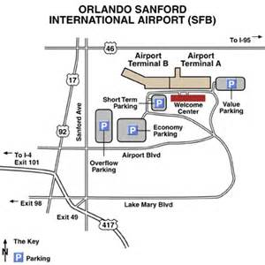 Orlando Terminal Map by Orlando Sanford Airport Map
