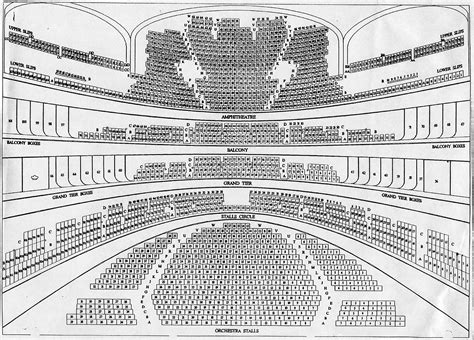 Opera House Seating Plan Royal Opera House Seating Plan