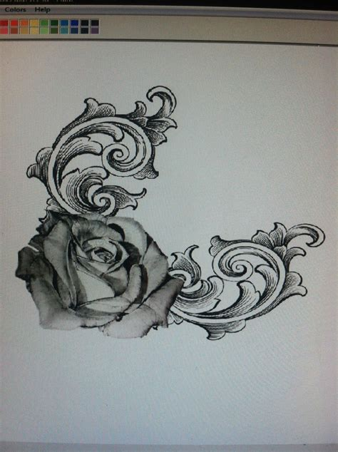 elegant rose tattoo the and the swirls tattoos and