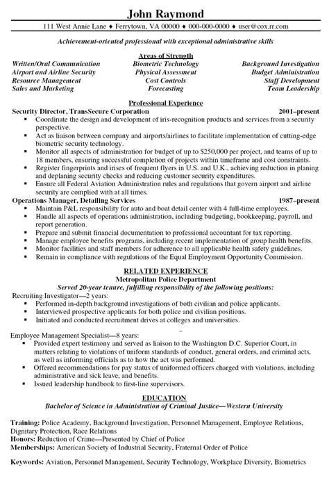 Resume For Security Officer 50 Best Templates
