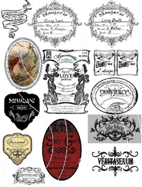 harry potter potion labels comics and geeky stuff