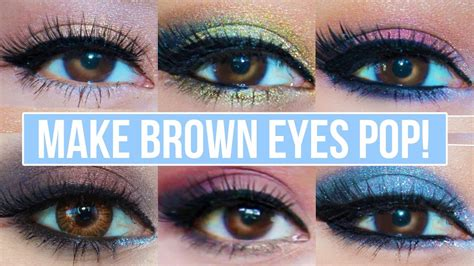 what colors make light brown 5 makeup looks that make brown pop brown