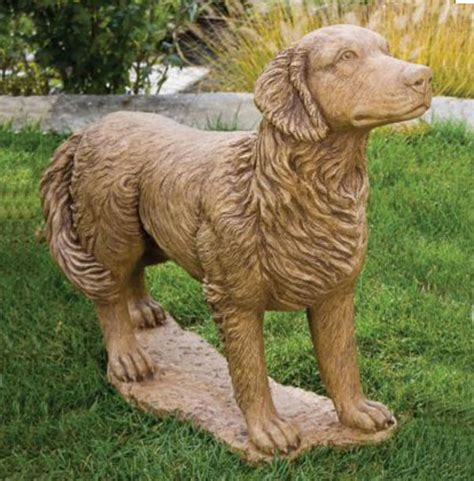 golden retriever statues outdoor golden retriever statue 29 quot classic statue