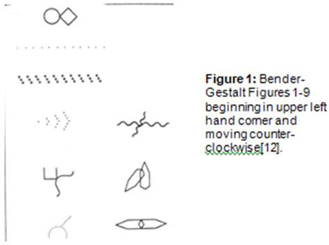 bender gestalt test pin bender visual motor gestalt test on