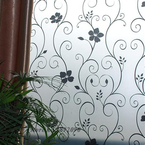 decorative window stickers for home 45 100cm 17 7 quot 39 4 quot frosted opaque glass window film