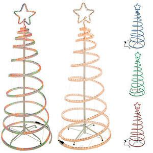 5 foot spiral rope light christmas tree flashing 5ft 3d spiral tree rope light silhouette blue green multi ebay