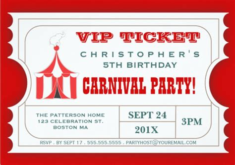 carnival event invitation ticket template 31 ticket invitation templates free sle exle format downlaod free premium templates